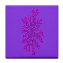 Dendron Diffusion Aggregation Flower Floral Leaf Red Purple Face Towel
