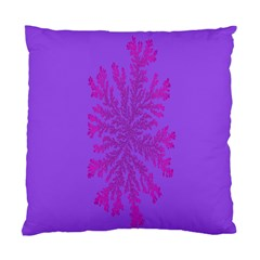 Dendron Diffusion Aggregation Flower Floral Leaf Red Purple Standard Cushion Case (Two Sides)