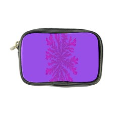 Dendron Diffusion Aggregation Flower Floral Leaf Red Purple Coin Purse