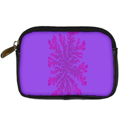 Dendron Diffusion Aggregation Flower Floral Leaf Red Purple Digital Camera Cases