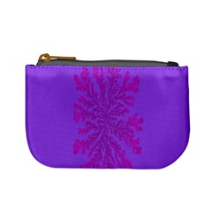 Dendron Diffusion Aggregation Flower Floral Leaf Red Purple Mini Coin Purses