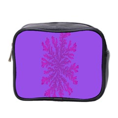 Dendron Diffusion Aggregation Flower Floral Leaf Red Purple Mini Toiletries Bag 2-Side