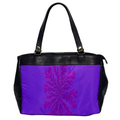Dendron Diffusion Aggregation Flower Floral Leaf Red Purple Office Handbags