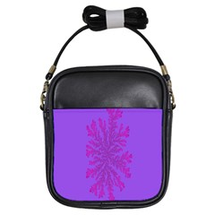 Dendron Diffusion Aggregation Flower Floral Leaf Red Purple Girls Sling Bags