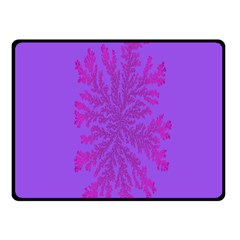 Dendron Diffusion Aggregation Flower Floral Leaf Red Purple Fleece Blanket (Small)