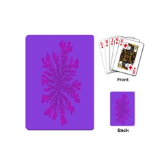 Dendron Diffusion Aggregation Flower Floral Leaf Red Purple Playing Cards (Mini)