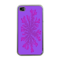 Dendron Diffusion Aggregation Flower Floral Leaf Red Purple Apple iPhone 4 Case (Clear)