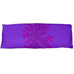 Dendron Diffusion Aggregation Flower Floral Leaf Red Purple Body Pillow Case (Dakimakura)