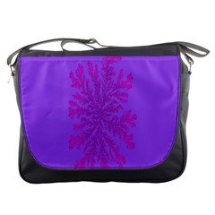Dendron Diffusion Aggregation Flower Floral Leaf Red Purple Messenger Bags