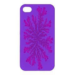Dendron Diffusion Aggregation Flower Floral Leaf Red Purple Apple iPhone 4/4S Premium Hardshell Case
