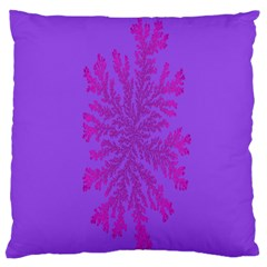 Dendron Diffusion Aggregation Flower Floral Leaf Red Purple Large Cushion Case (Two Sides)