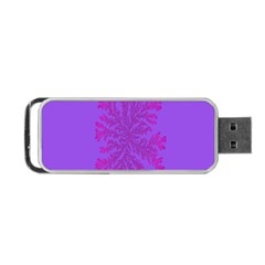 Dendron Diffusion Aggregation Flower Floral Leaf Red Purple Portable USB Flash (Two Sides)