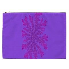 Dendron Diffusion Aggregation Flower Floral Leaf Red Purple Cosmetic Bag (XXL)