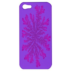 Dendron Diffusion Aggregation Flower Floral Leaf Red Purple Apple iPhone 5 Hardshell Case