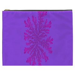 Dendron Diffusion Aggregation Flower Floral Leaf Red Purple Cosmetic Bag (XXXL)