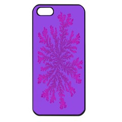 Dendron Diffusion Aggregation Flower Floral Leaf Red Purple Apple iPhone 5 Seamless Case (Black)