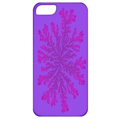Dendron Diffusion Aggregation Flower Floral Leaf Red Purple Apple iPhone 5 Classic Hardshell Case