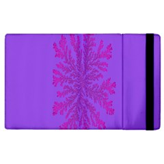 Dendron Diffusion Aggregation Flower Floral Leaf Red Purple Apple iPad 2 Flip Case