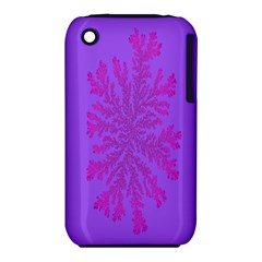 Dendron Diffusion Aggregation Flower Floral Leaf Red Purple iPhone 3S/3GS