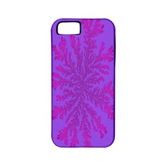 Dendron Diffusion Aggregation Flower Floral Leaf Red Purple Apple iPhone 5 Classic Hardshell Case (PC+Silicone)