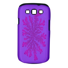 Dendron Diffusion Aggregation Flower Floral Leaf Red Purple Samsung Galaxy S III Classic Hardshell Case (PC+Silicone)