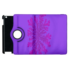 Dendron Diffusion Aggregation Flower Floral Leaf Red Purple Apple iPad 3/4 Flip 360 Case
