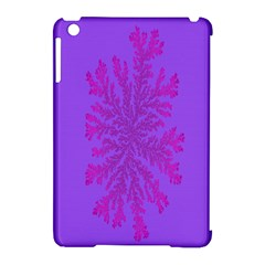 Dendron Diffusion Aggregation Flower Floral Leaf Red Purple Apple iPad Mini Hardshell Case (Compatible with Smart Cover)