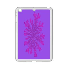 Dendron Diffusion Aggregation Flower Floral Leaf Red Purple iPad Mini 2 Enamel Coated Cases