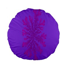 Dendron Diffusion Aggregation Flower Floral Leaf Red Purple Standard 15  Premium Round Cushions