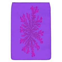 Dendron Diffusion Aggregation Flower Floral Leaf Red Purple Flap Covers (L)