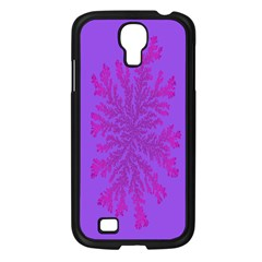 Dendron Diffusion Aggregation Flower Floral Leaf Red Purple Samsung Galaxy S4 I9500/ I9505 Case (Black)