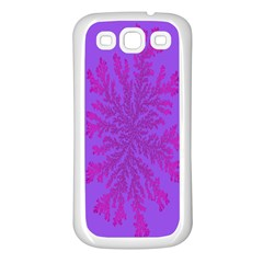 Dendron Diffusion Aggregation Flower Floral Leaf Red Purple Samsung Galaxy S3 Back Case (White)