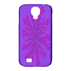 Dendron Diffusion Aggregation Flower Floral Leaf Red Purple Samsung Galaxy S4 Classic Hardshell Case (PC+Silicone)