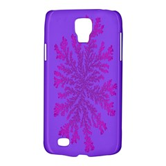 Dendron Diffusion Aggregation Flower Floral Leaf Red Purple Galaxy S4 Active