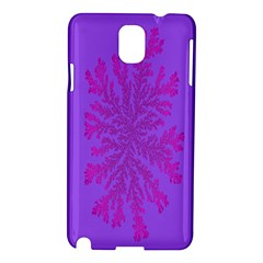 Dendron Diffusion Aggregation Flower Floral Leaf Red Purple Samsung Galaxy Note 3 N9005 Hardshell Case