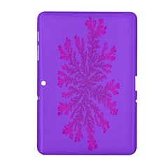 Dendron Diffusion Aggregation Flower Floral Leaf Red Purple Samsung Galaxy Tab 2 (10.1 ) P5100 Hardshell Case