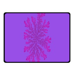 Dendron Diffusion Aggregation Flower Floral Leaf Red Purple Double Sided Fleece Blanket (Small)