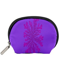 Dendron Diffusion Aggregation Flower Floral Leaf Red Purple Accessory Pouches (Small)