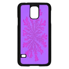 Dendron Diffusion Aggregation Flower Floral Leaf Red Purple Samsung Galaxy S5 Case (Black)
