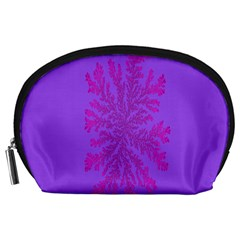 Dendron Diffusion Aggregation Flower Floral Leaf Red Purple Accessory Pouches (Large)