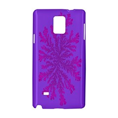 Dendron Diffusion Aggregation Flower Floral Leaf Red Purple Samsung Galaxy Note 4 Hardshell Case