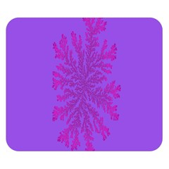 Dendron Diffusion Aggregation Flower Floral Leaf Red Purple Double Sided Flano Blanket (Small)