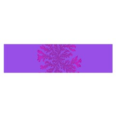 Dendron Diffusion Aggregation Flower Floral Leaf Red Purple Satin Scarf (Oblong)