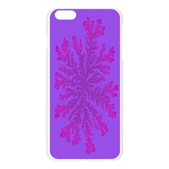 Dendron Diffusion Aggregation Flower Floral Leaf Red Purple Apple Seamless iPhone 6 Plus/6S Plus Case (Transparent)