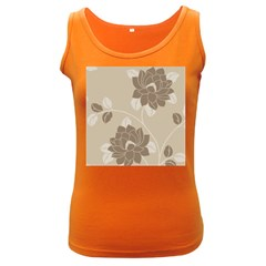Flower Floral Grey Rose Leaf Women s Dark Tank Top