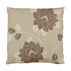 Flower Floral Grey Rose Leaf Standard Cushion Case (Two Sides)