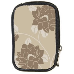 Flower Floral Grey Rose Leaf Compact Camera Cases