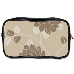 Flower Floral Grey Rose Leaf Toiletries Bags