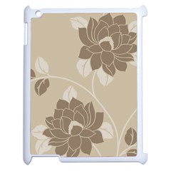 Flower Floral Grey Rose Leaf Apple iPad 2 Case (White)