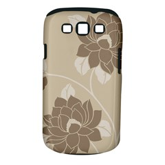 Flower Floral Grey Rose Leaf Samsung Galaxy S III Classic Hardshell Case (PC+Silicone)